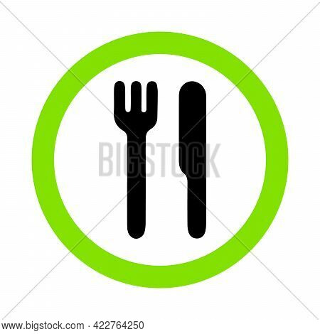Food Allowed, Eat Zone Sign On White Background