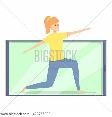 Morning Fitness Blog Icon. Cartoon Of Morning Fitness Blog Vector Icon For Web Design Isolated On Wh