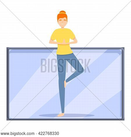 Yoga Fitness Blog Icon. Cartoon Of Yoga Fitness Blog Vector Icon For Web Design Isolated On White Ba