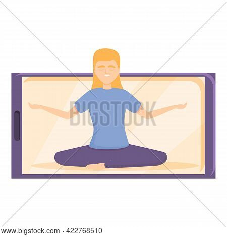 Healthy Fitness Blog Icon. Cartoon Of Healthy Fitness Blog Vector Icon For Web Design Isolated On Wh