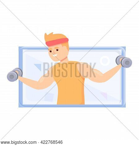 Extreme Fitness Blog Icon. Cartoon Of Extreme Fitness Blog Vector Icon For Web Design Isolated On Wh