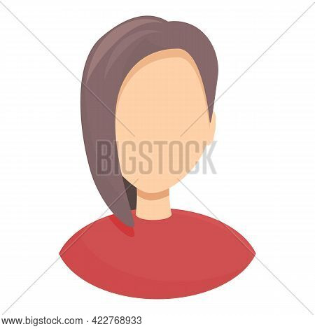 Anonymous Incognito Girl Icon. Cartoon Of Anonymous Incognito Girl Vector Icon For Web Design Isolat