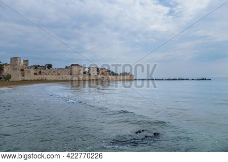 Ruins Of Ancient Fortress Corycus, Former Important Port & Commercial Town On Mediterranean Sea, Kiz