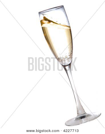 Champagne Glass Full Of Bubbly