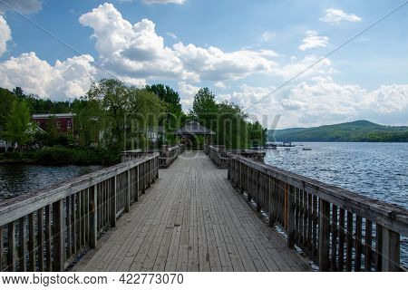 Nice Dock That Juts Out Onto The Lake