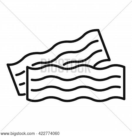 Bacon Icon. Outline Bacon Vector Icon For Web Design Isolated On White Background