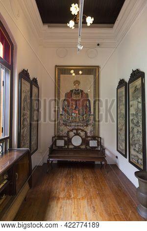 Penang, Malaysia - February 13,2019 : Interior View Of The Pinang Peranakan Mansion In Penang, Malay