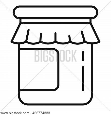 Jam Jar Icon. Outline Jam Jar Vector Icon For Web Design Isolated On White Background
