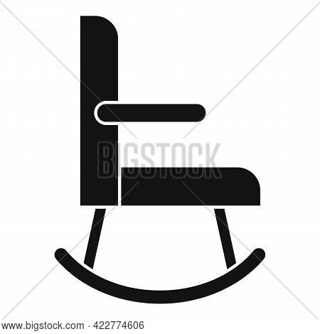 Rocking Chair Icon. Simple Illustration Of Rocking Chair Vector Icon For Web Design Isolated On Whit