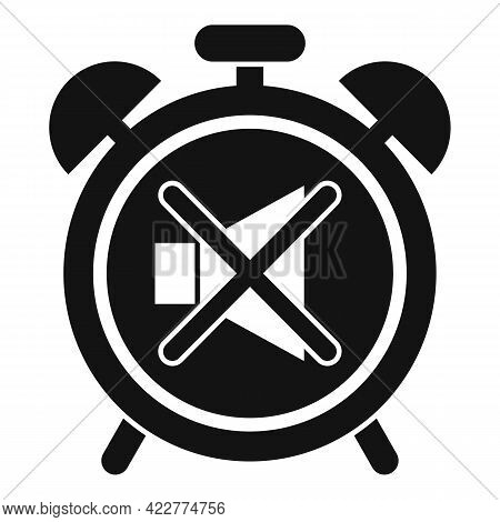 No Alarm Clock Icon. Simple Illustration Of No Alarm Clock Vector Icon For Web Design Isolated On Wh