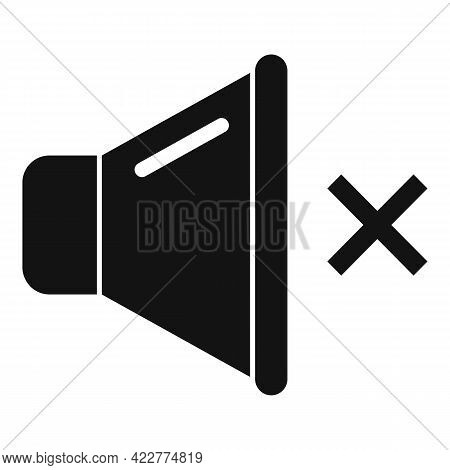 Mute Sound Icon. Simple Illustration Of Mute Sound Vector Icon For Web Design Isolated On White Back