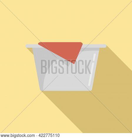 Softener Basin Icon. Flat Illustration Of Softener Basin Vector Icon For Web Design
