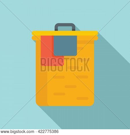 Softener Clothes Box Icon. Flat Illustration Of Softener Clothes Box Vector Icon For Web Design