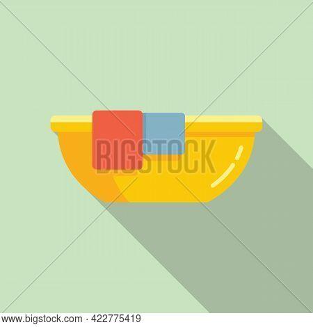 Softener Clothes Basin Icon. Flat Illustration Of Softener Clothes Basin Vector Icon For Web Design