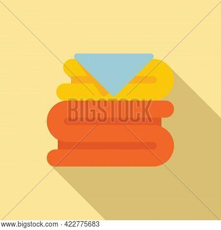 Softener Clothes Stack Icon. Flat Illustration Of Softener Clothes Stack Vector Icon For Web Design