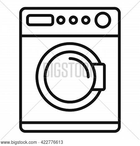 Softener Washing Machine Icon. Outline Softener Washing Machine Vector Icon For Web Design Isolated