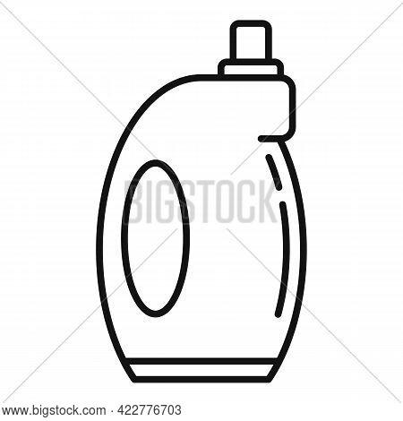 Softener Bottle Icon. Outline Softener Bottle Vector Icon For Web Design Isolated On White Backgroun