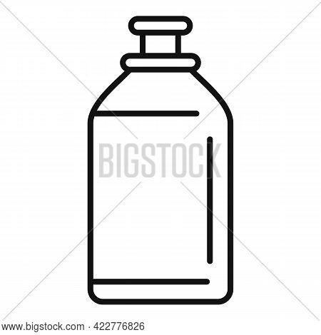 Softener Toilet Bottle Icon. Outline Softener Toilet Bottle Vector Icon For Web Design Isolated On W
