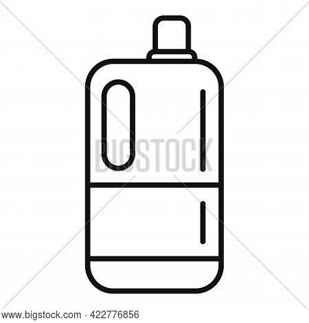 Softener Washing Icon. Outline Softener Washing Vector Icon For Web Design Isolated On White Backgro