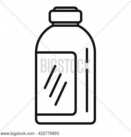 Softener Chemical Bottle Icon. Outline Softener Chemical Bottle Vector Icon For Web Design Isolated