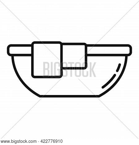 Softener Clothes Basin Icon. Outline Softener Clothes Basin Vector Icon For Web Design Isolated On W