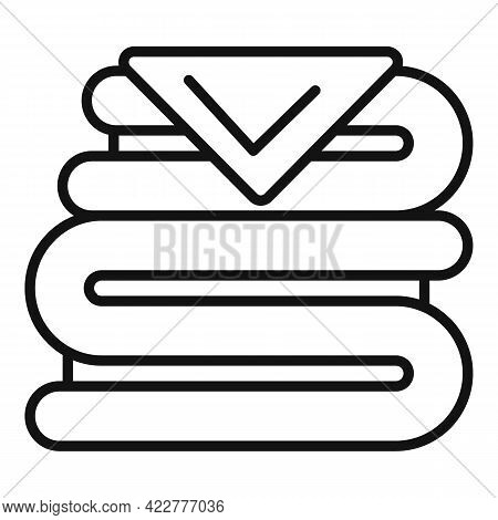Softener Clothes Stack Icon. Outline Softener Clothes Stack Vector Icon For Web Design Isolated On W