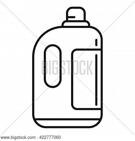 Softener Liquid Bottle Icon. Outline Softener Liquid Bottle Vector Icon For Web Design Isolated On W