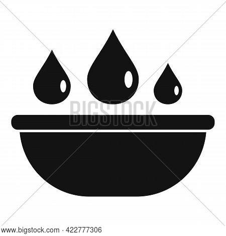 Essential Oils Bowl Icon. Simple Illustration Of Essential Oils Bowl Vector Icon For Web Design Isol