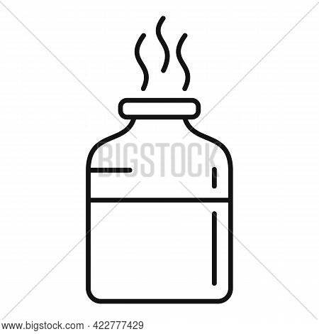 Essential Oils Hot Icon. Outline Essential Oils Hot Vector Icon For Web Design Isolated On White Bac