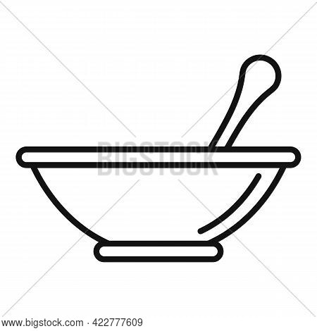 Essential Oils Bowl Mix Icon. Outline Essential Oils Bowl Mix Vector Icon For Web Design Isolated On