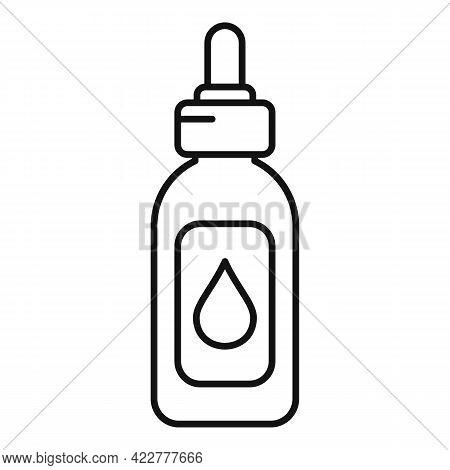 Essential Oils Bio Dropper Icon. Outline Essential Oils Bio Dropper Vector Icon For Web Design Isola
