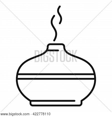 Aromatherapy Diffuser Icon. Outline Aromatherapy Diffuser Vector Icon For Web Design Isolated On Whi