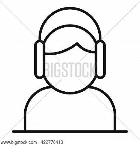 Home Office Listen Icon. Outline Home Office Listen Vector Icon For Web Design Isolated On White Bac