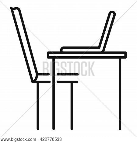 Home Office Laptop Work Icon. Outline Home Office Laptop Work Vector Icon For Web Design Isolated On