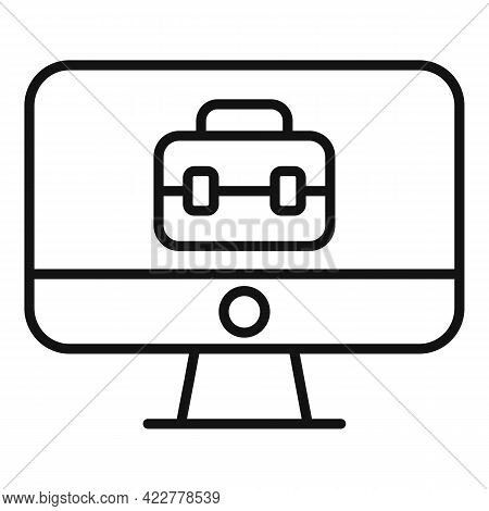 Home Office Business Icon. Outline Home Office Business Vector Icon For Web Design Isolated On White