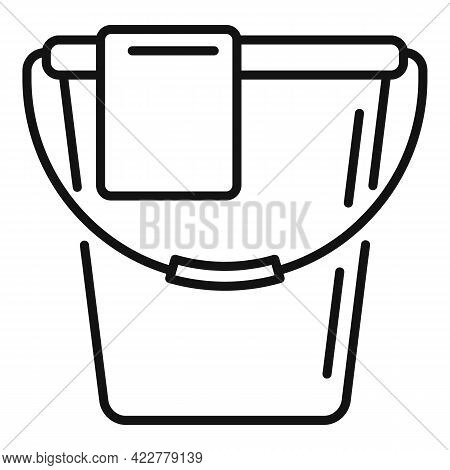 Disinfection Water Bucket Icon. Outline Disinfection Water Bucket Vector Icon For Web Design Isolate