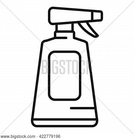 Disinfection Plastic Bottle Icon. Outline Disinfection Plastic Bottle Vector Icon For Web Design Iso