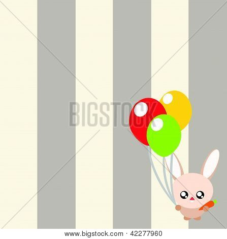 Rabbit Cartoon Background Illustration