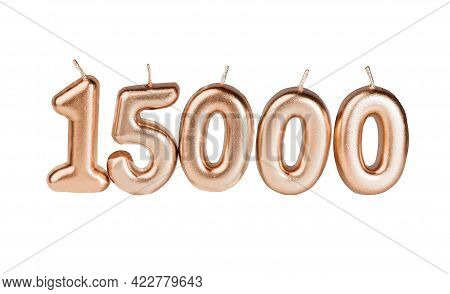 15000 Followers Card Isolated On White With Clipping Path. Template For Social Networks, Blogs. Soci