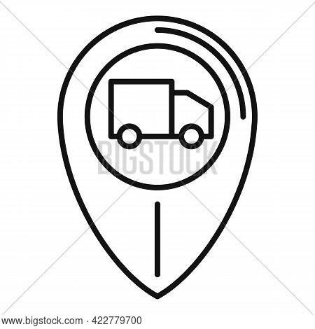 Tracking Home Delivery Icon. Outline Tracking Home Delivery Vector Icon For Web Design Isolated On W