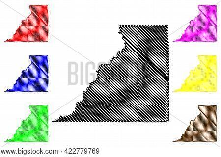 San Juan County, State Of Utah (u.s. County, United States Of America, Usa, U.s., Us) Map Vector Ill