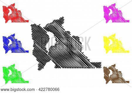 Utah County, State Of Utah (u.s. County, United States Of America, Usa, U.s., Us) Map Vector Illustr