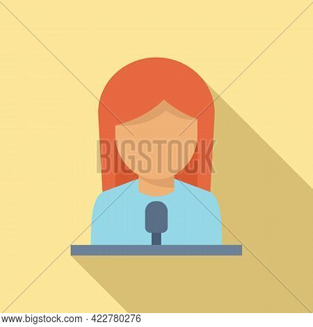 Podcast Guest Icon. Flat Illustration Of Podcast Guest Vector Icon For Web Design