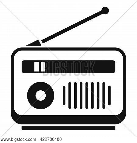 Radio Podcast Icon. Simple Illustration Of Radio Podcast Vector Icon For Web Design Isolated On Whit