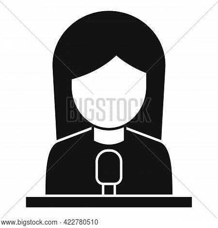 Podcast Guest Icon. Simple Illustration Of Podcast Guest Vector Icon For Web Design Isolated On Whit