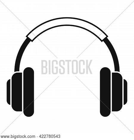 Podcast Headphones Icon. Simple Illustration Of Podcast Headphones Vector Icon For Web Design Isolat