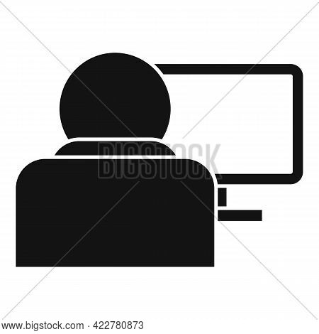 Outsource Home Pc Icon. Simple Illustration Of Outsource Home Pc Vector Icon For Web Design Isolated
