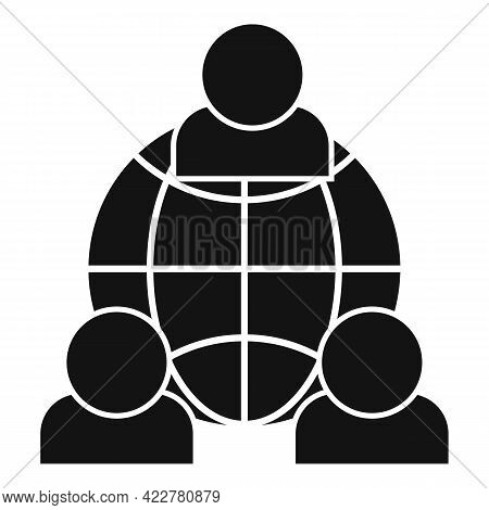 Outsource Global Network Icon. Simple Illustration Of Outsource Global Network Vector Icon For Web D