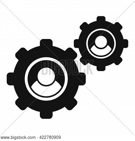 Outsource Smart Gear Icon. Simple Illustration Of Outsource Smart Gear Vector Icon For Web Design Is