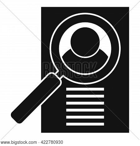 Outsource Cv Paper Icon. Simple Illustration Of Outsource Cv Paper Vector Icon For Web Design Isolat